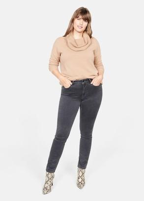 MANGO Violeta BY Slim-fit Valentin jeans denim grey - 12 - Plus sizes