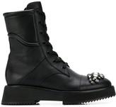 Jimmy Choo Hadley embellished-toe mid-calf boots
