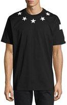 Givenchy Columbian-Fit Star-Appliqué T-Shirt, Black