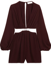 Zimmermann Cutout Crepe Playsuit - Grape