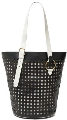 Diane von Furstenberg Origami Perforated Leather Tote
