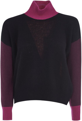 Marni Turtleneck Color-block Sweater