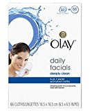 Olay Daily Facials Deeply Clean Wipes, 4-in-1 Water Activated Cloths, 66 count