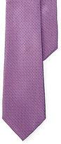 Ralph Lauren Purple Label Square-Print Silk Narrow Tie