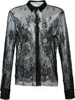 Off-White lace detail shirt - women - Silk/Polyamide/Viscose - M