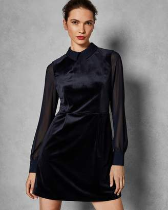 Ted Baker Georgette Sleeve Velvet Dress