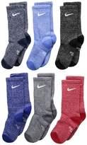 Nike Performance Cushioned Crew Dri-FITtm Training Socks 6-Pair Pack Kids Shoes