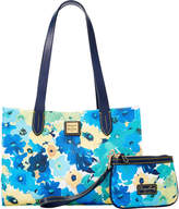 Dooney & Bourke Somerset Watercolor Sm Shopper & Med Wristlet Tote