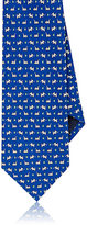 Salvatore Ferragamo Men's Dog-Print Silk Necktie