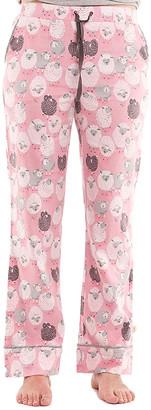 Munki Munki Women's Sleep Bottoms PK - Pink Sheep Pajama Pants - Women