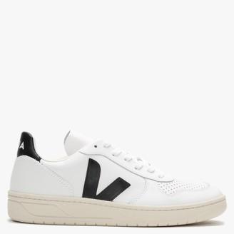 Veja V-10 Leather Extra White Black Trainers