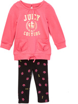 Juicy Couture Pink Logo Sweatshirt & Black Leggings - Toddler & Girls