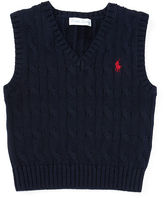 Ralph Lauren Cable-Knit Cotton Sweater Vest