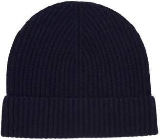 Johnstons of Elgin Cashmere Rib-Knit Beanie Hat