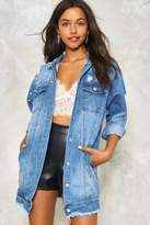 Nasty Gal nastygal Run the World Pearl Denim Jacket
