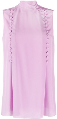 Givenchy Button Detailed Sleeveless Blouse