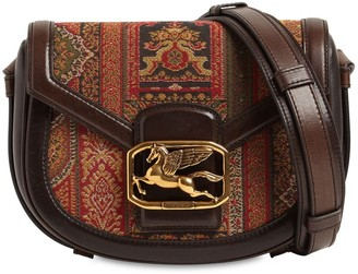 Etro Pegaso Md Cotton Jacquard & Leather Bag