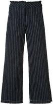 Alexander Wang cropped pinstripe trousers - women - Cotton - 4