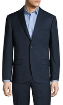 Ben Sherman Wool Sharkskin Peak Lapel Blazer