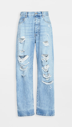 Unravel Project Distressed Baggy Boyfriend Jeans