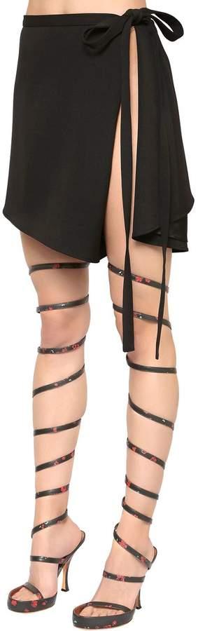 Y/Project Open Side Cool Wool Wrap Skirt