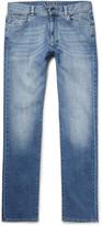 Canali - Washed Stretch-denim Jeans