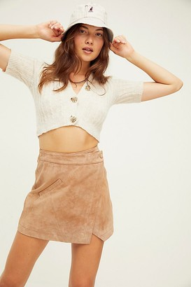 Blank NYC Suede Wrap Mini Skirt