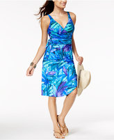 Miraclesuit Flamenco Palm-Print Side-Tie Pareo Wrap