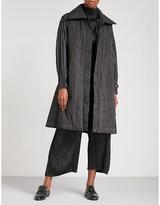 Pleats Please Issey Miyake Pleated-sleeve Shell Coat