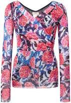Fuzzi floral wrap top