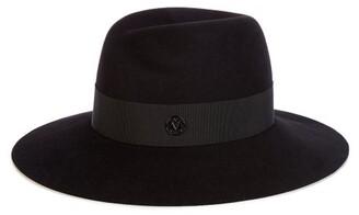 Maison Michel Virginie Showerproof Felt Hat - Black
