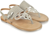 Fratelli Rossetti Gray Leather Thong Sandal