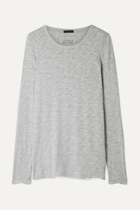 ATM Anthony Thomas Melillo Slub Pima Cotton-blend Jersey Top - Gray