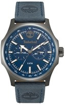 Timberland 'Shermand' Multifunction Leather Strap Watch, 56Mm