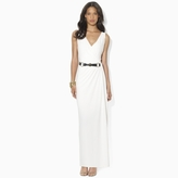 Ralph Lauren Belted Jersey Maxidress