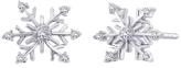 Zales 1/10 CT. T.W. Diamond Snowflake Stud Earrings in Sterling Silver