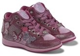 Lelli Kelly Kids Pink Jewelled Butterfly Hi Top Trainers