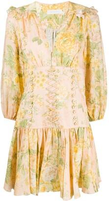 Zimmermann Floral Mini Dress