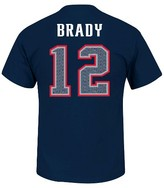 New England Patriots T Brady Men's Short Sleeve Athletic Ring Spun Player Jersey T-Shirt