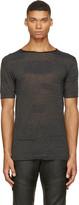 CNC Costume National Black Alternating Knit T-Shirt
