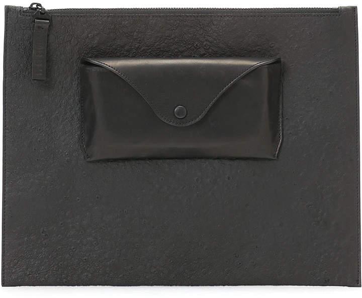 Maison Margiela (メゾン マルジェラ) - Maison Margiela POUCH ラムスキン ポケット クラッチバッグ ブラック