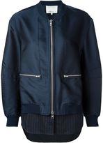3.1 Phillip Lim shirt tail bomber jacket - women - Silk/Polyester/Spandex/Elastane/Viscose - 2