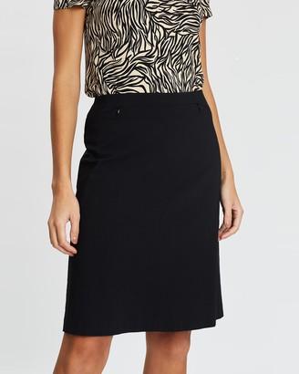 David Lawrence Bengaline A-line Skirt