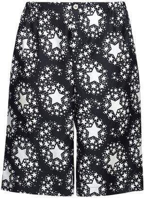 Gucci Gg Stars Print Silk Twill Bermuda Shorts