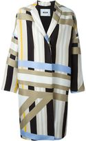 MSGM striped coat - women - Cotton/Polyester/Viscose - 48