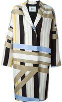 MSGM striped coat - women - Polyester/Viscose/Cotton - 48