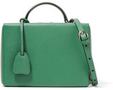 Mark Cross Grace Small Textured-leather Shoulder Bag - Forest green
