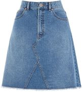 Warehouse Reconstructed Denim Skirt