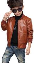 YoungSoul Childrens Boys Faux Leather Biker Jacket with Quilting 7-8T