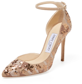 Jimmy Choo Lucy 100 Sequin Embroidered Suede Pump